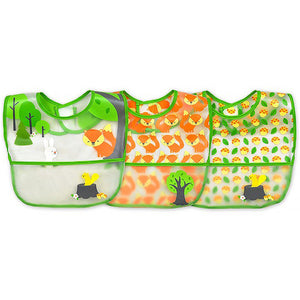 green sprouts Wipe-off Bibs (3pk)