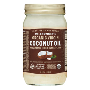 Dr. Bronner's Organic Virgin Coconut Oil, Fresh-Pressed & Unrefined, 14 Oz, 1 Count