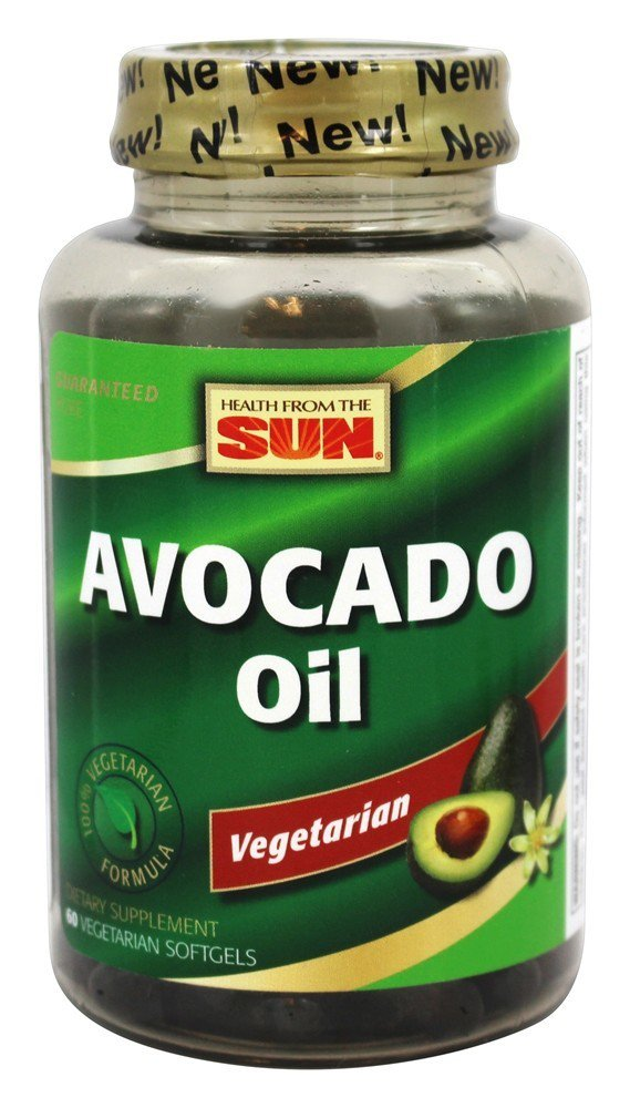 Nature's Life Avocado Oil, Vegetarian | Cardiovascular & Joint Supplement | Skin & Eye Health Support | 60 CT