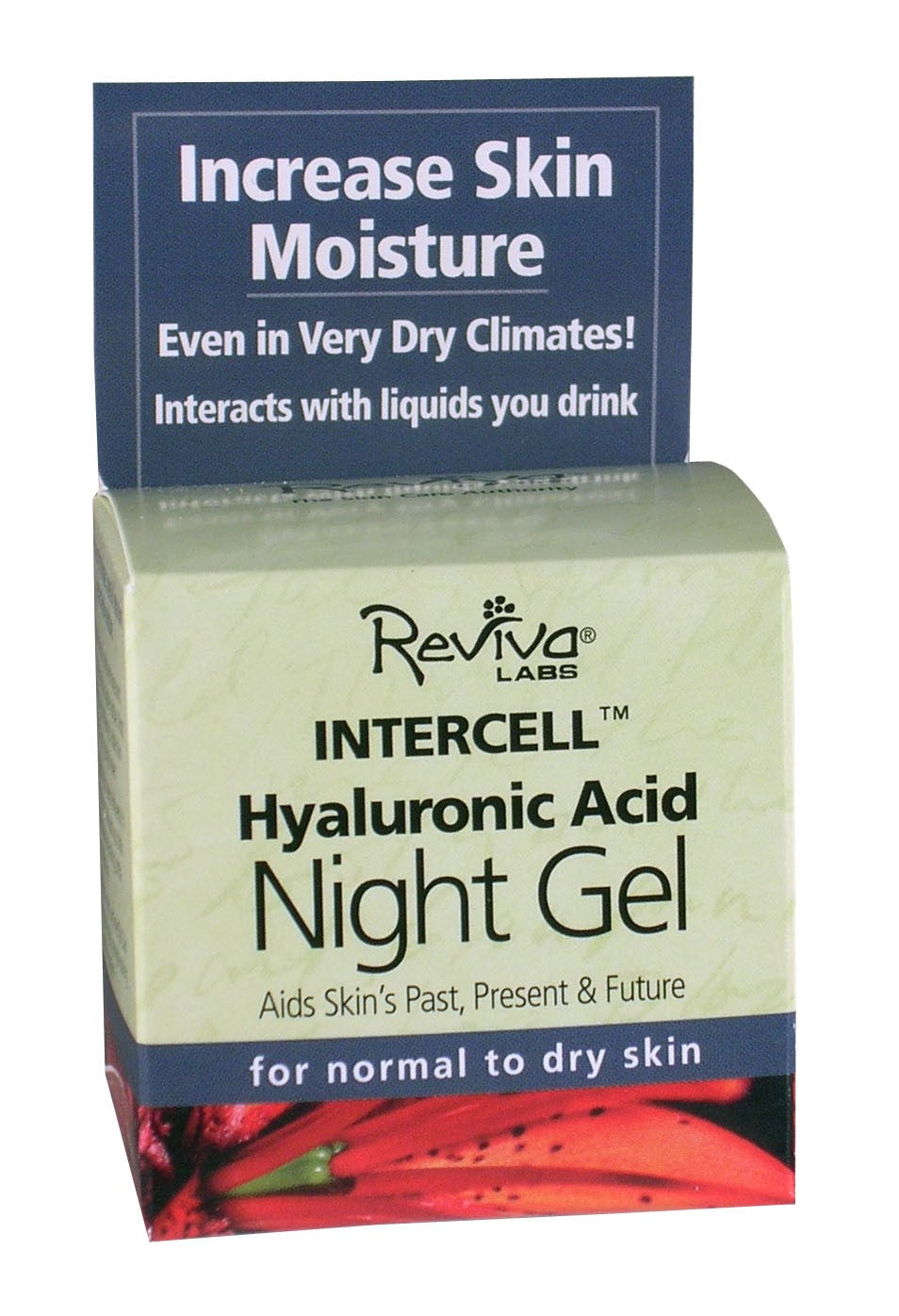 Reviva Labs 0830760 InterCell Night Gel with Hyaluronic Acid - 1.25 oz