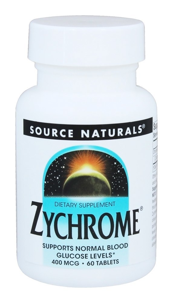Source Naturals - Zychrome 400 mcg. - 60 Tablets