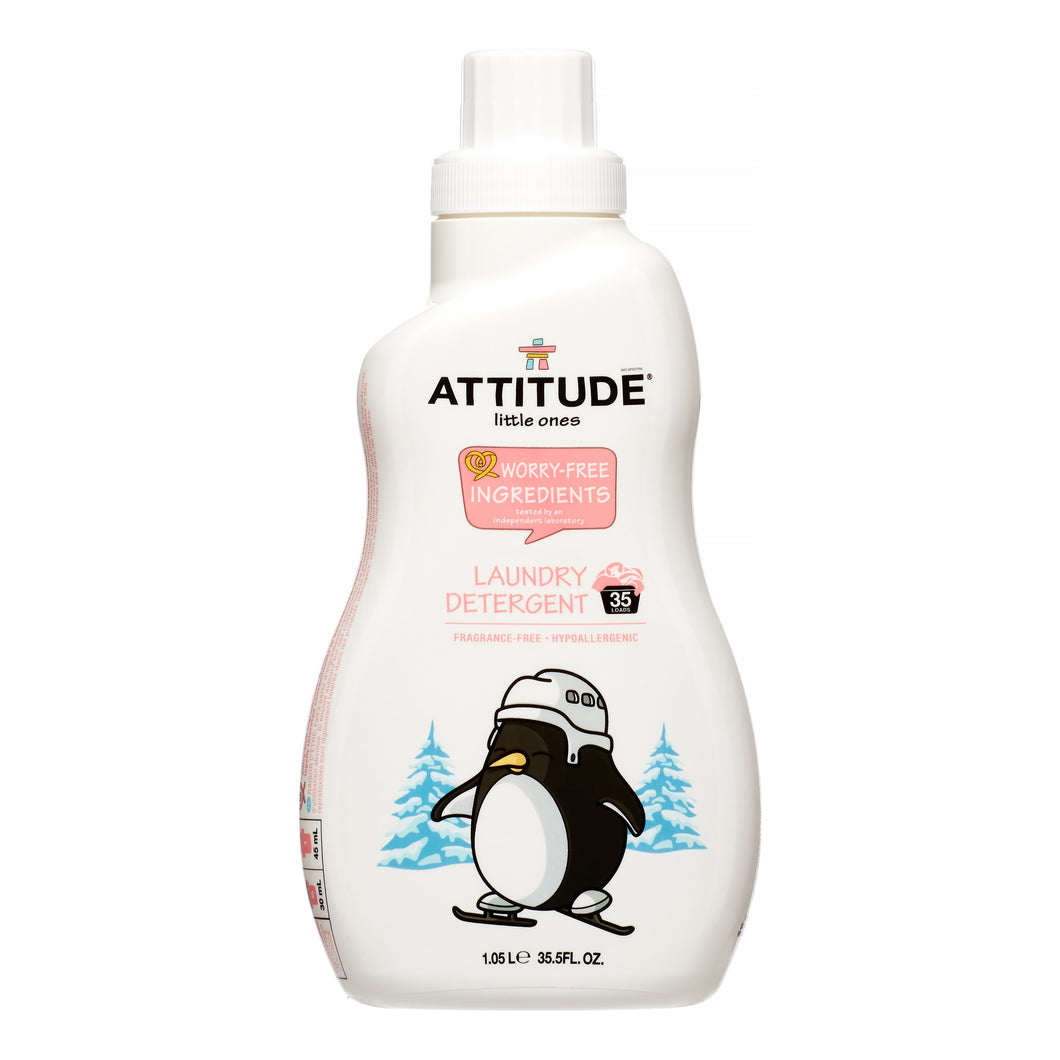 Attitude Little Ones Laundry Detergent, Fragrance Free, 35 Loads