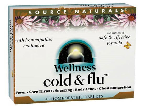 Source Naturals Wellness Cold & Flu Homeopathic Bio-Aligned, 48 Ct