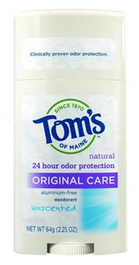 Tom's Of Maine Original Care Deodorant, Fragrance-Free, 2.25 Oz