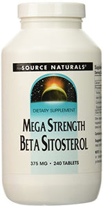 Source Naturals Mega Strength Beta Sitosterol, Maintains Healthy Cholesterol Levels, 375mg, 240 Count