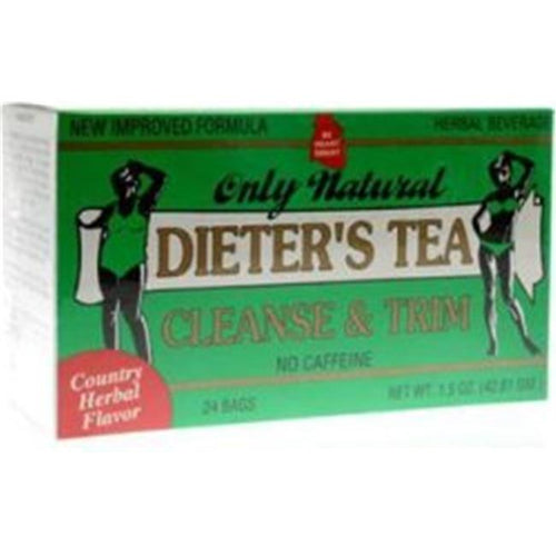 Only Natural 539721 Dieters Cleansing Tea Herbal - 24 Bag, 24 Per Case