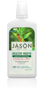 JASON Healthy Mouth Cinnamon Clove Tartar Control Mouthwash, 16 Ounce Bottle