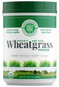 Green Foods 28.2-ounce Organic and Raw Wheat Grass Powder
