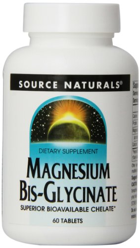 Source Naturals Magnesium Bis-Glycinate, Superior Bioavailable , 60 Tablets