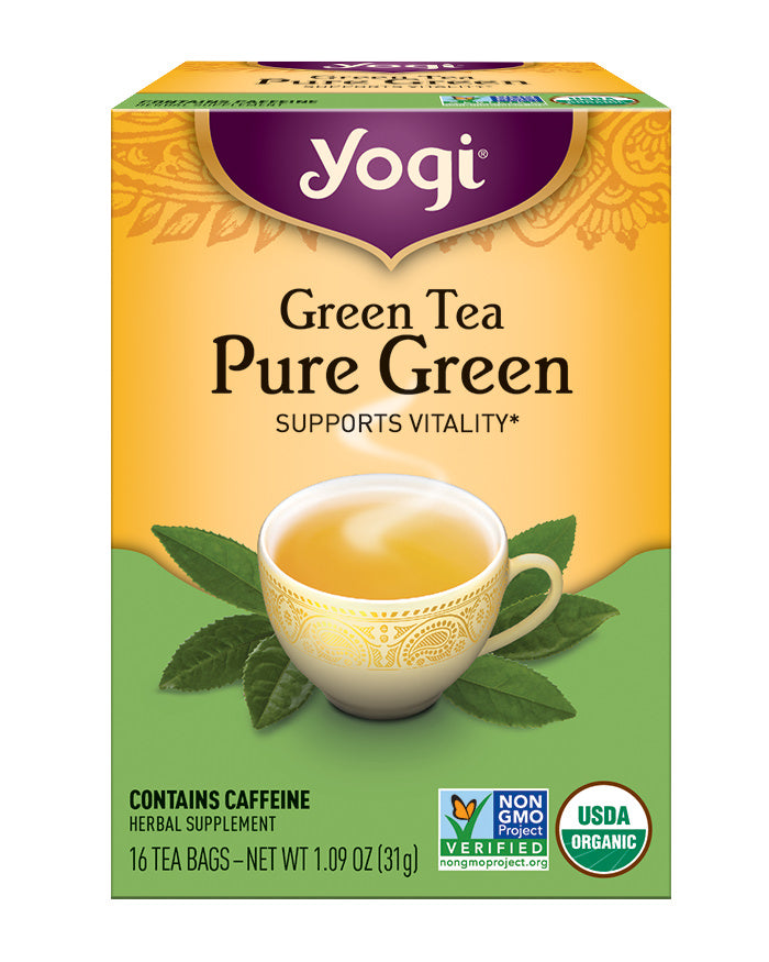 Yogi Pure Green Tea Bags, 16 count, 1.09 oz