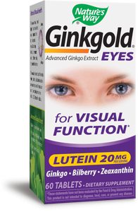 Natures Way Ginkgold Eyes Advanced Ginkgo Extract for Visual Function 60 Count