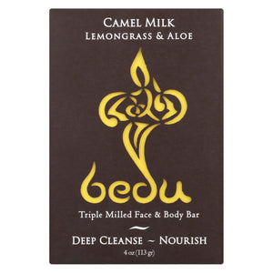 Bedu Face And Body Bar - Lemongrass And Aloe - Case Of 6 - 4 Oz.
