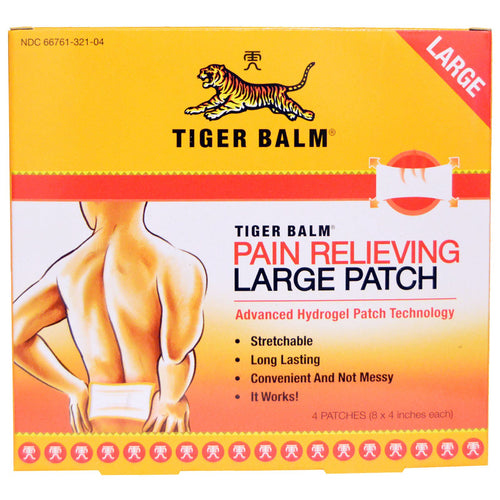 Pain Relieving Patch, Large, 4 Patches (8 x 4 in. Each)