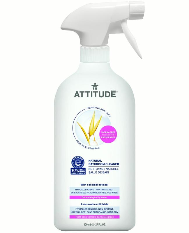 Attitude Sensitive Skin Care Natural Bathroom Cleaner, Fragrance Free, 27 Oz