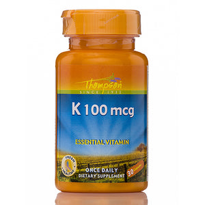 Vitamin K 100 mcg - 30 Capsules by Thompsons