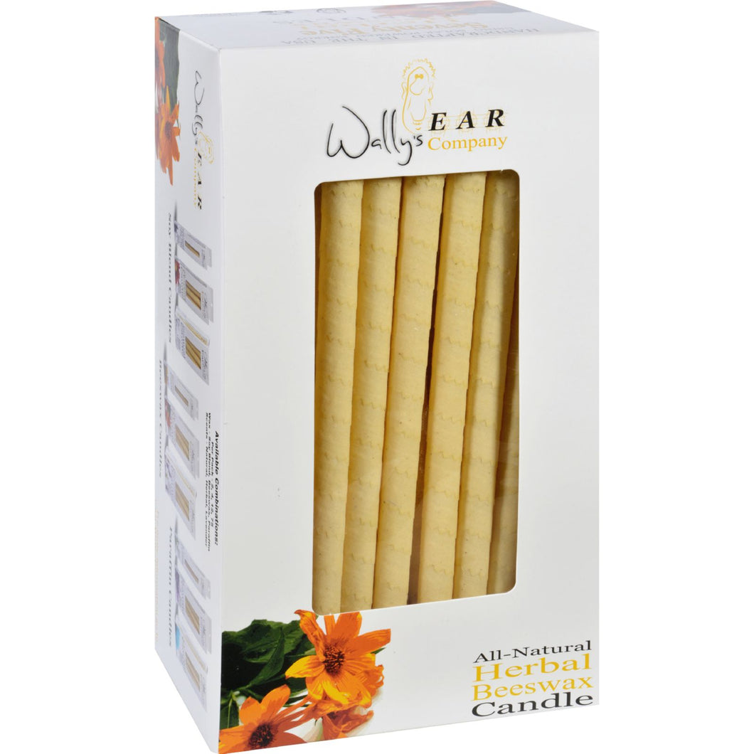 Wally's Natural Products Beeswax Candles - Herbal - Case of 75