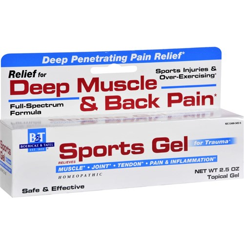 Boericke and Tafel Sports Gel - 2.5 oz Homeopathic Pain Relief