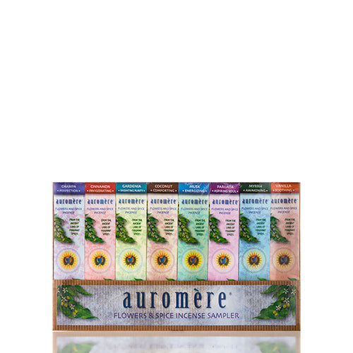 Flowers Spice Incense Sample Pack - 8 Count by Auromere