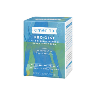 Emerita Pro-Gest Balancing Cream Single-Use Packets | USP Progesterone Cream from Wild Yam for Optimal Balance at Midlife