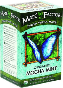 Mate Factor Mocha Mint Organic Yerba Mate, 20 Ct
