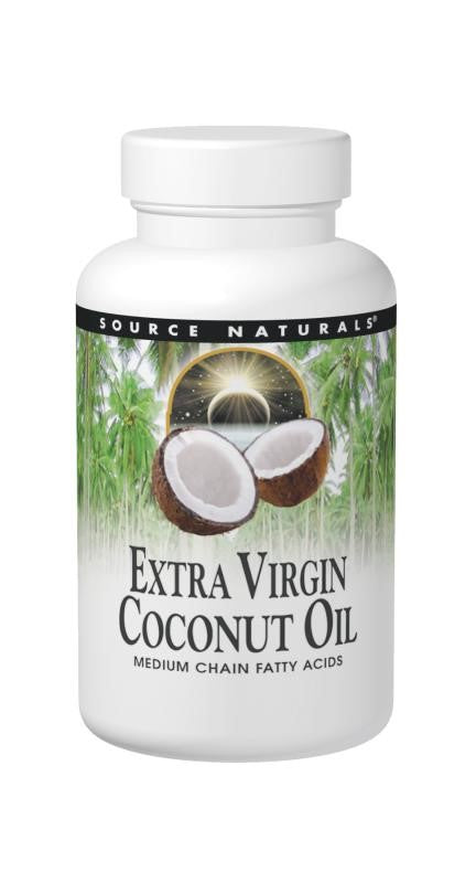 Source Naturals Extra Virgin Coconut Oil Softgels, 60 Ct
