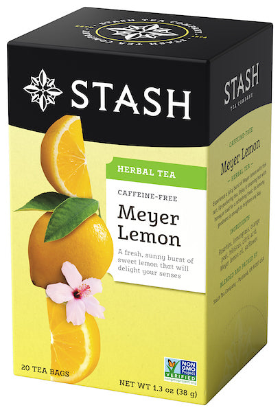 Stash Meyer Lemon Herbal Tea Bags, 20 Count, 1.3 Oz