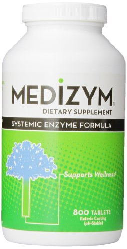 Naturally Vitamins Medizym Systemic Enzyme Formula, 800 Tablets