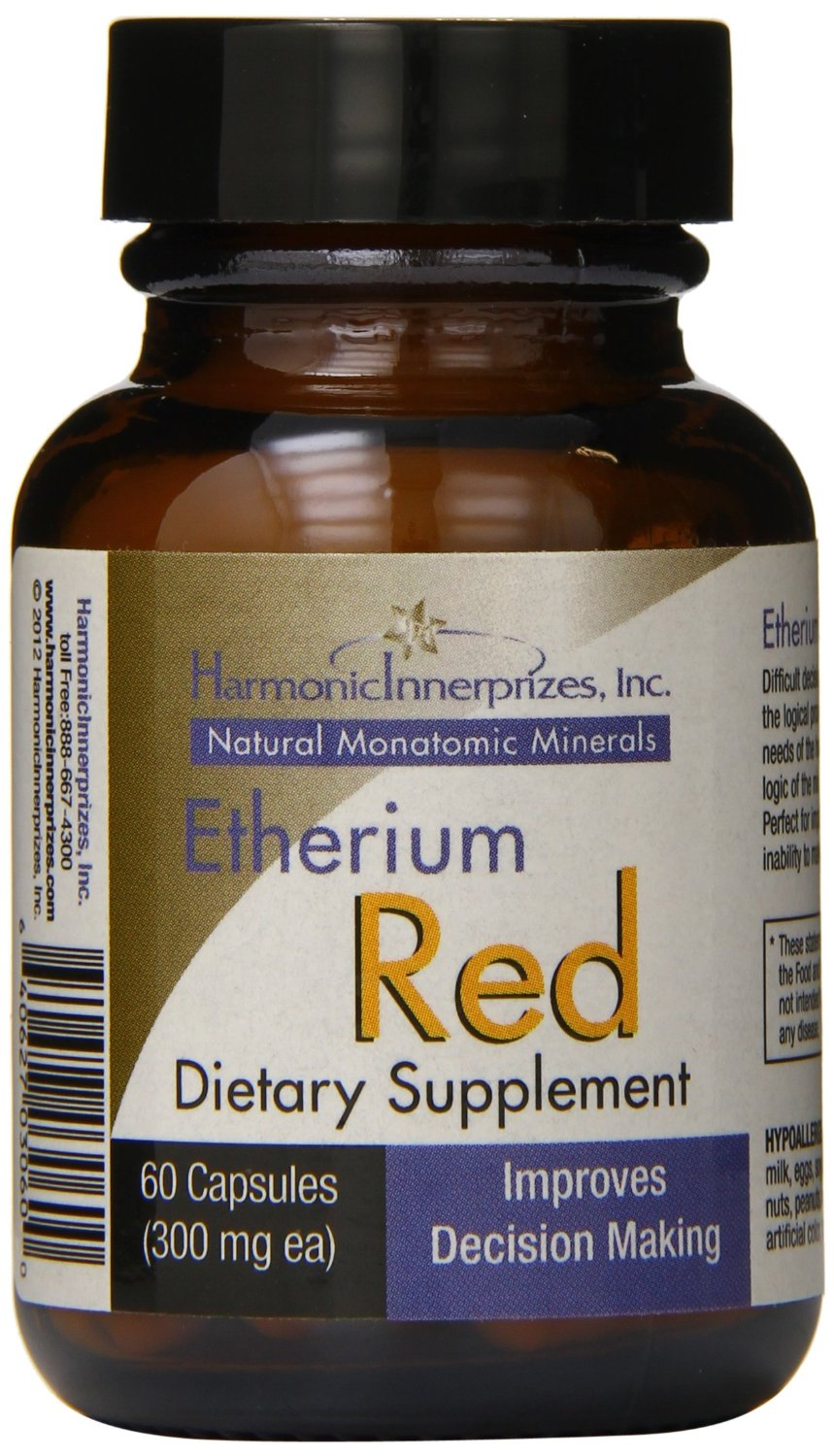 Harmonic Innerprizes Etherium Red, 60 Ct