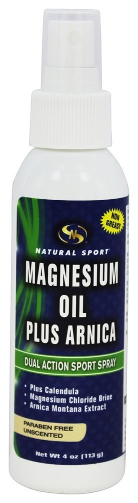 Natural Sport - Magnesium Oil Plus Arnica Unscented - 4 fl. oz.