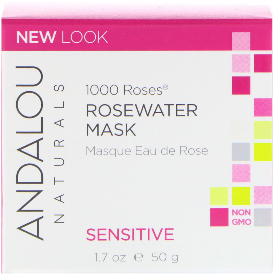 Andalou Naturals  1000 Roses  Rosewater Mask  Sensitive  1 7 oz  50 g