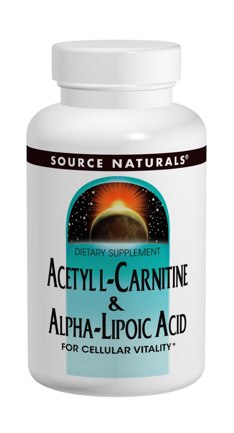 Source Naturals Acetyl L-Carnitine & Alpha Lipoic Acid 500/150mg, 60 Count