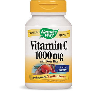 Nature's Way Vitamin C 1000 mg - with Rose Hips 100 Capsules