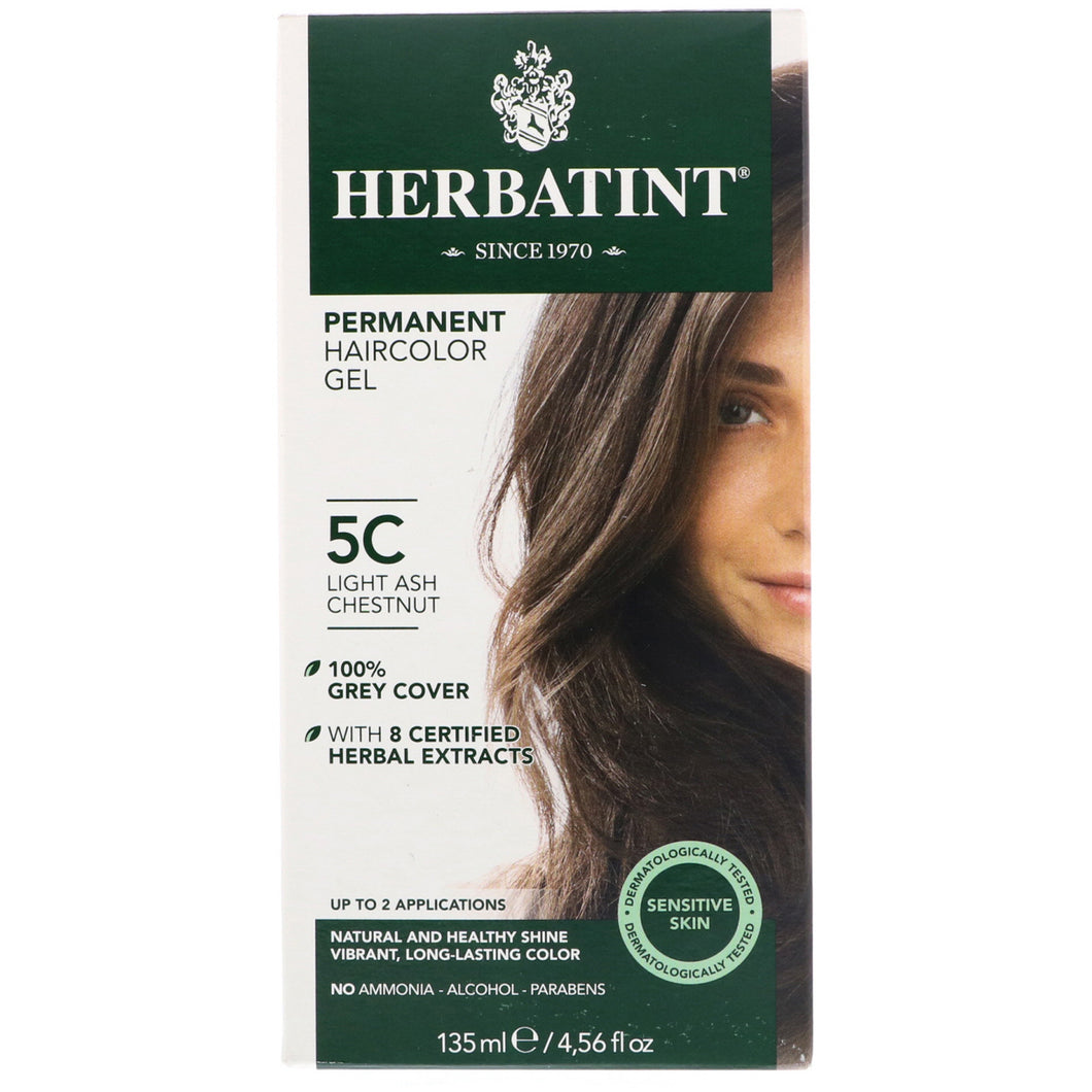 Herbatint  Permanent Haircolor Gel  5C  Light Ash Chestnut  4 56 fl oz  135 ml