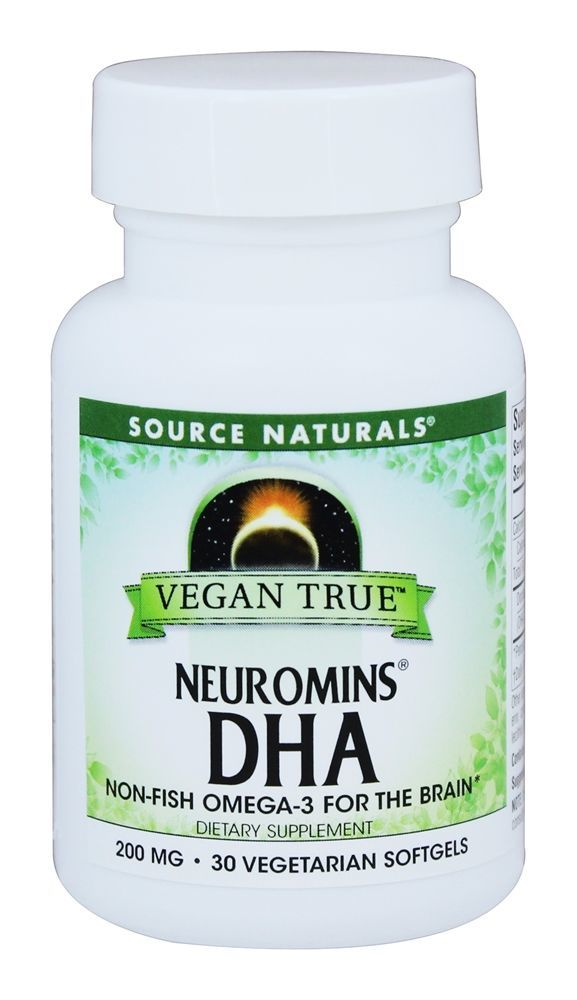 Source Naturals - Vegan True Neuromins DHA 200 mg. - 30 Vegetarian Softgels
