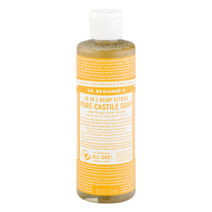 Dr. Bronner's 18-In-1 Hemp Pure-Castile Soap Citrus, 8.0 FL OZ