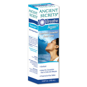 Ancient Secrets Breathe Again Nasal Spray - 3.38 fl oz Allergy and Sinus