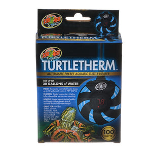 Zoo Med Turtletherm Automatic Preset Aquatic Turtle Heater 100 Watt - (Up to 30 Gallons)