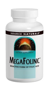 Source Naturals MegaFolinic? Bioavailable Folic Acid 800mcg, 120 tablet