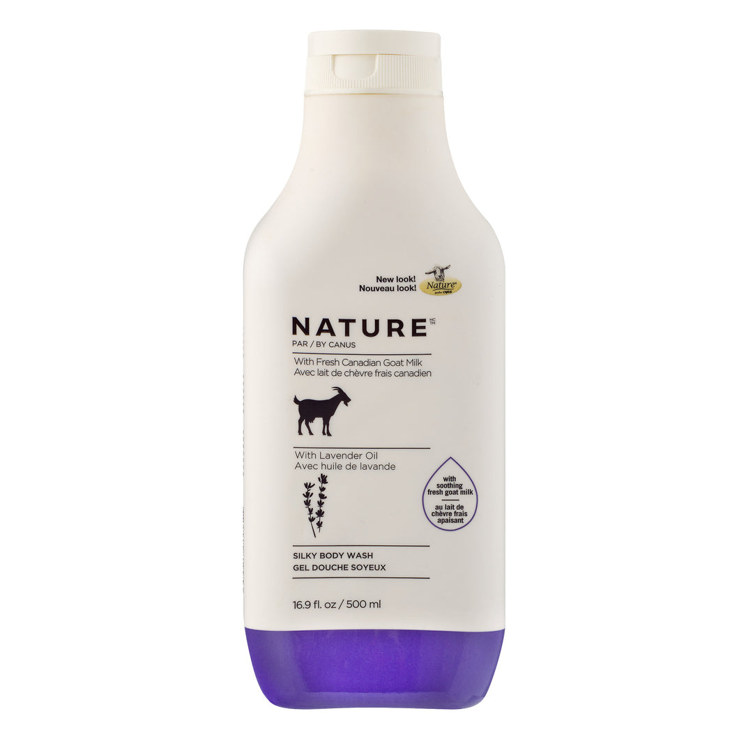Nature Silky Body Wash With Lavender Oil, 16.9 FL OZ