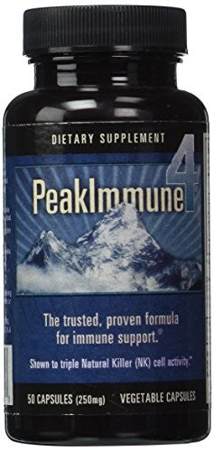 Daiwa Health Development Peak Immune 4 250 mg Capsules, 50 Ct