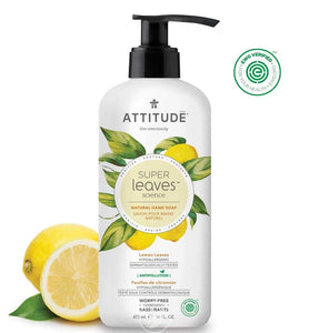 Attitude Natural Hand Soap Lemon Leave & White Tea 15.9 Ounce