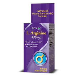 Natrol L-Arginine Tablets, 3000 Mg, 90 Ct