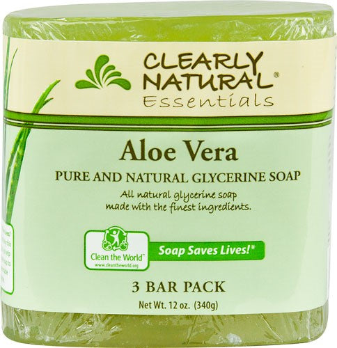 Clearly Natural Glycerine Soap, Aloe Vera, 3 Ct