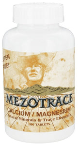 Mezotrace - Calcium/Magnesium Multi Mineral Supplement - 180 Tablets