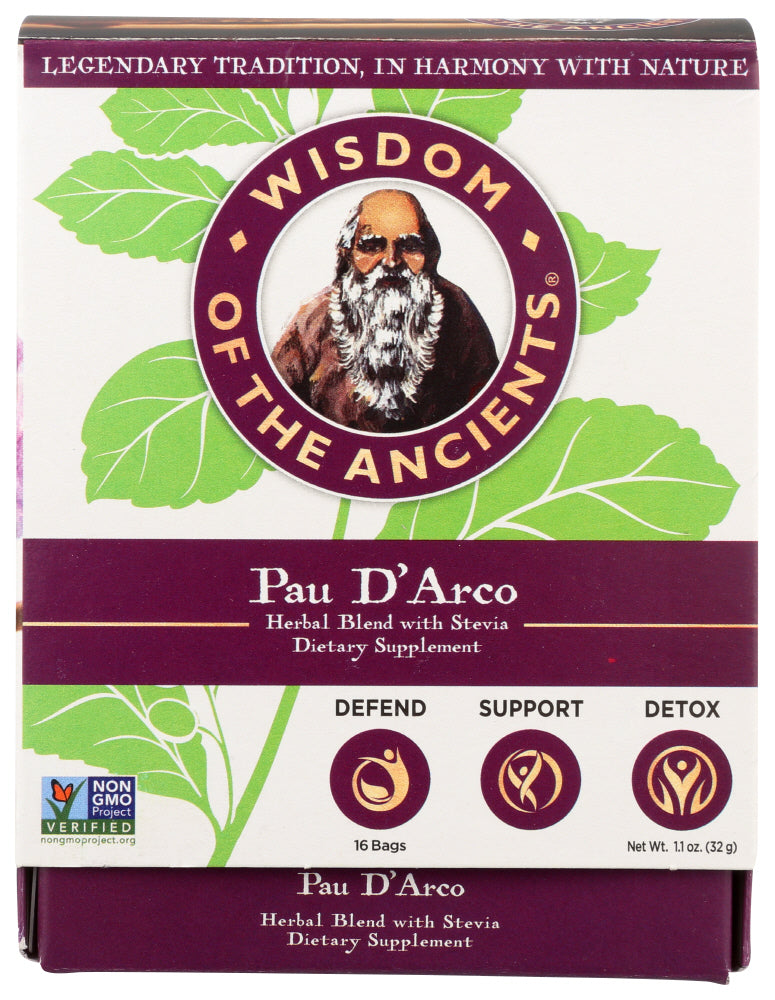 Wisdom Of The Ancients Yerbamate D'Arco Tea, 16 Each