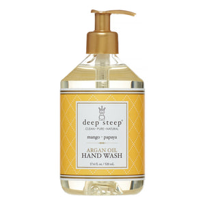 Deep Steep Argan Oil Liquid Hand Wash, Mango Papaya, 17.6 Oz