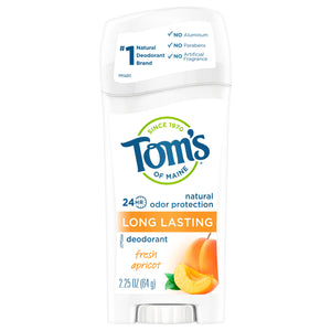 Tom's of Maine Long Lasting Natural Deodorant, Fresh Apricot, 2.25oz