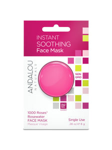 Andalou Naturals Instant Soothing Face Mask, 1000 Roses Rosewater, 0.28 Oz