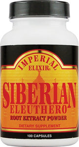 Imperial Elixir Siberian Eleuthero Root Extract Powder 500 mg - 100 Capsules