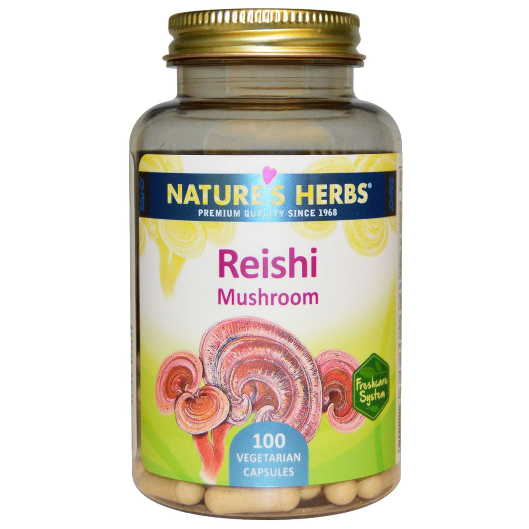 Nature's Life Reishi Mushroom 1200 mg | Healthy Immune Function, Energy & Mood Support Supplement | Non-GMO & Lab Verified | 100 Vegetarian Capsules